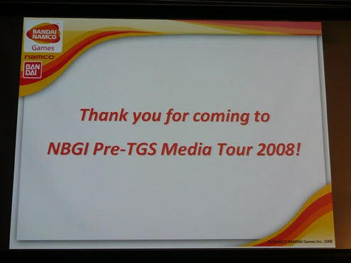 Faux Liveblogging Namco Bandai's Pre-TGS Presser