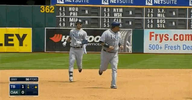 Jose Molina's Home-Run Trot Was So Slow, A Teammate Almost Passed Him