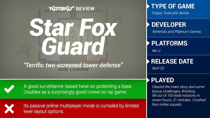 Star Fox Guard: The Kotaku Review