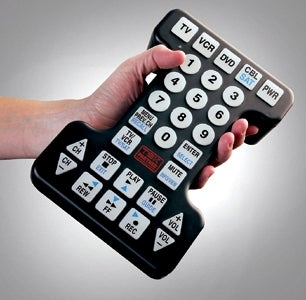 Giant Universal Remote, for the Sausage-Fingered