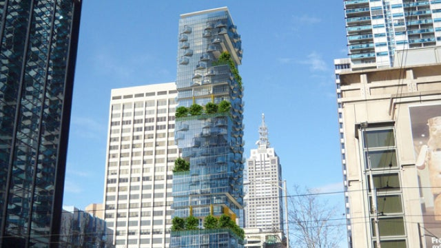 Australian building crams tree-lined city street into 35 stories