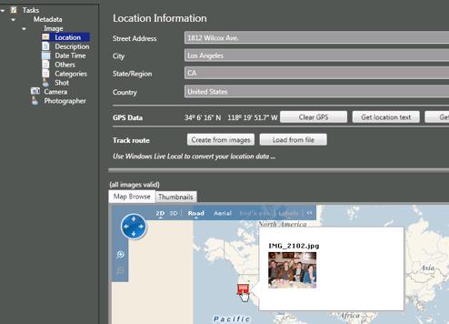Microsoft Pro Photo Tools Edits a Photo's Metadata
