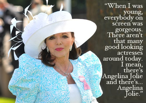 Joan Collins Is Disappointed By Homely Hollywood Stars