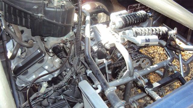 Mid-engine 1955 Fiat 600 has a Honda motorcycle powerplant
