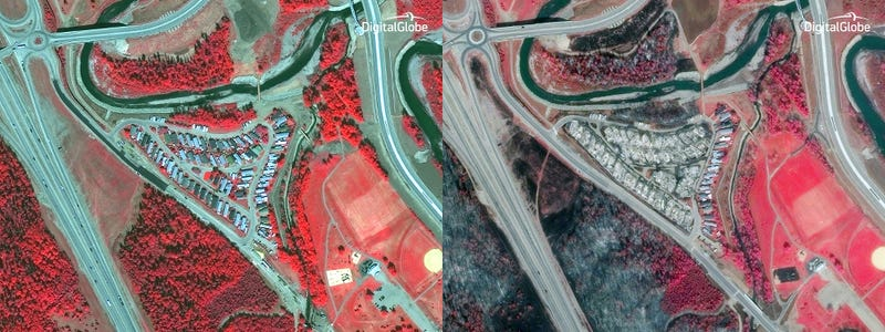 Satellite Images Reveal the Horrific Scope of Alberta's Wildfires