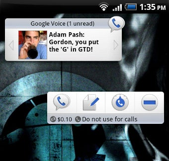 Google Voice for Android Updates, Adds Inbox and Settings Widgets