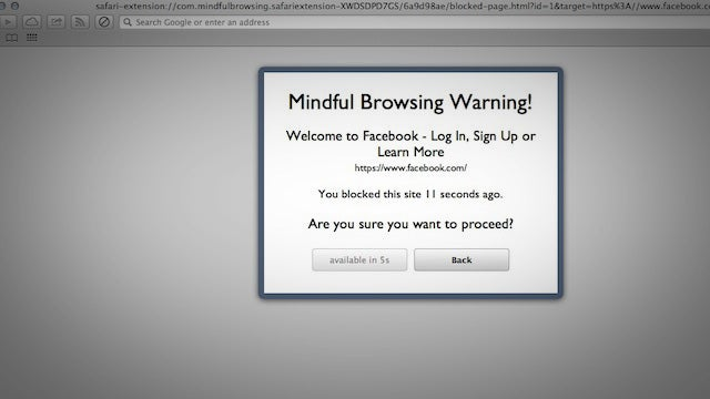 Mindful Browsing Blocks Time-Wasting Web Sites in Safari