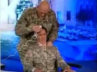 Barack Obama Orders the Shaving of Stephen Colbert's Head