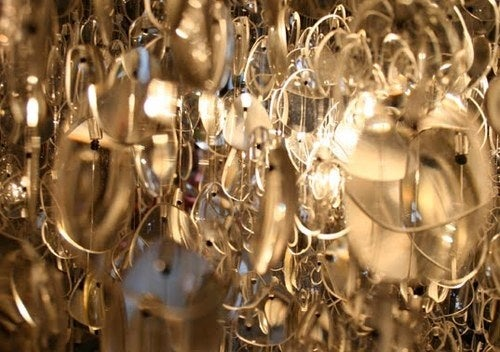 Recycled Eyeglass Chandelier Looks Blurry to Hundreds of Poor Souls