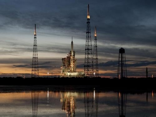 Ares I-X Sits On Launch Pad, Not-Yet-Go For Flight