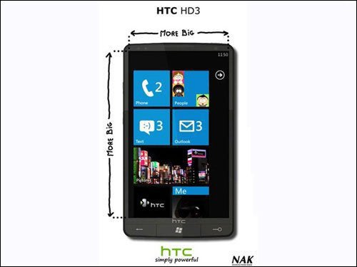 "HTC HD3 Leak: Windows Phone 7 Mega-Phone With 4.5"" AMOLED and 1.5GHz Snapdragon"