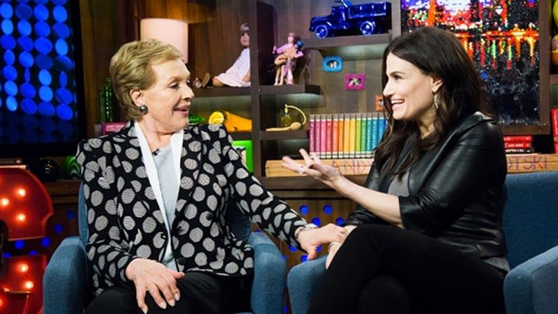 Idina Menzel and Julie Andrews Tackle the 'Adele Dazeem' Issue