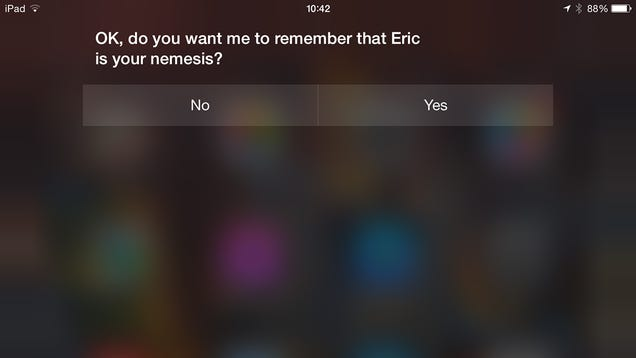 Make Siri Better By Telling Her All About Your Relationships