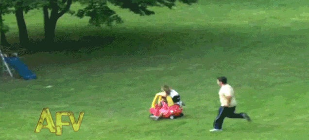 Dad saves a kid from getting hit by becoming faster than a superhero