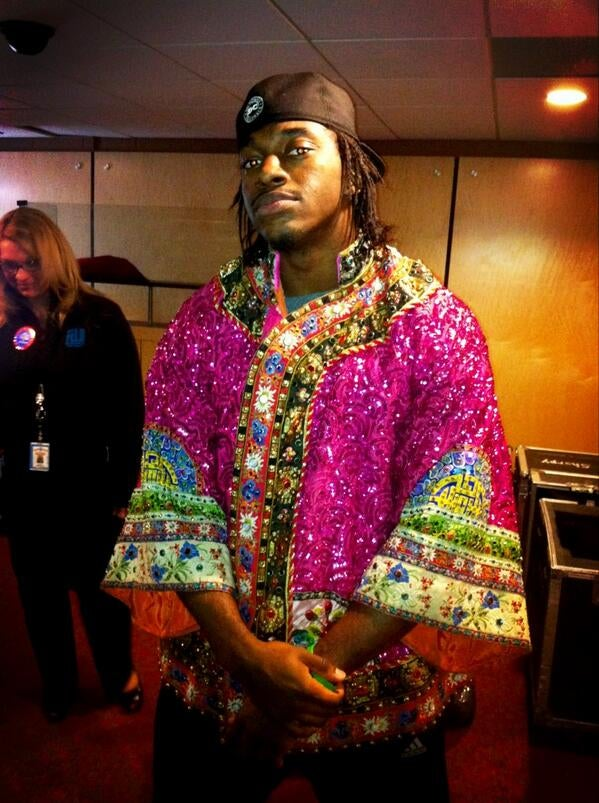 This Photo Of RG3 In A Gemmed-Out Blouse Is A National Treasure [UPDATE]