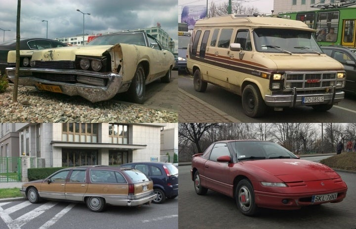 American Cars Living and Dying in Poland