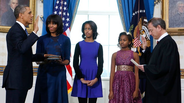 Barack Obama Takes the Oath of Office for His Second Term