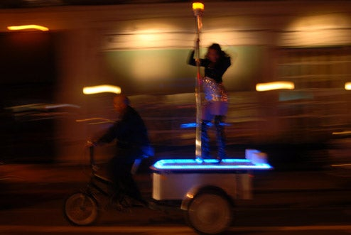 PoleRider is Part Rickshaw, Part Strip Club