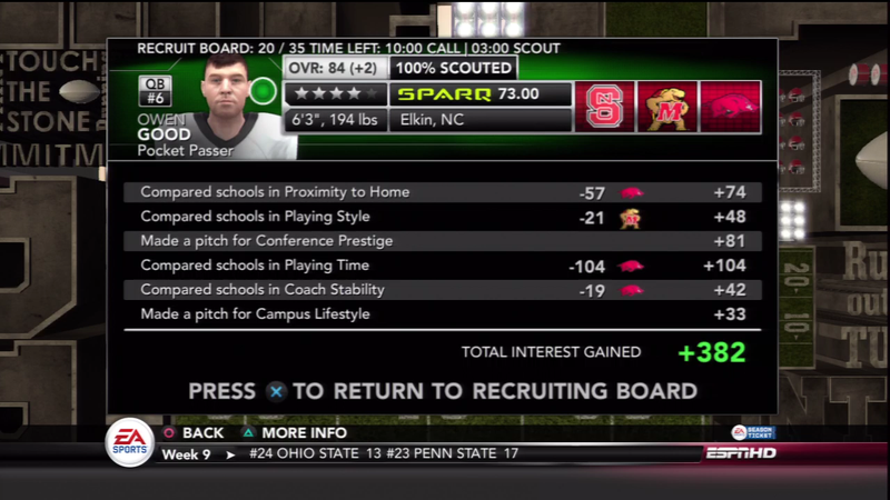 Recruiting Myself with NCAA Football and Wondering If I'll Even Answer the Phone