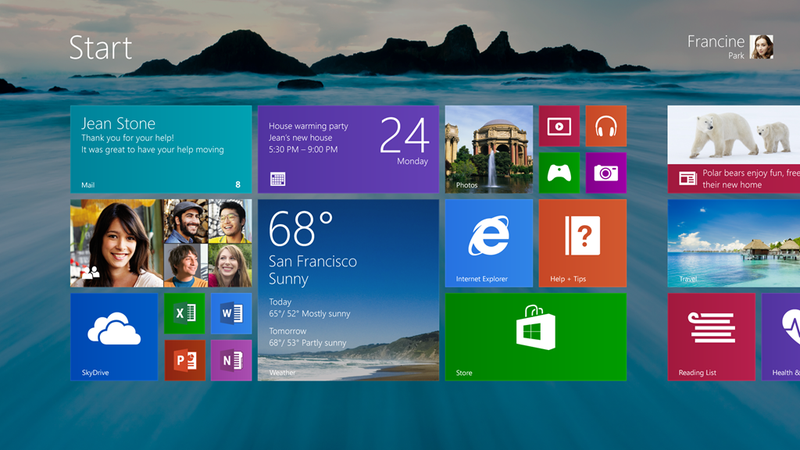 Windows 8.1 Adds a Start Button, More Touch Features, and Will Be Free