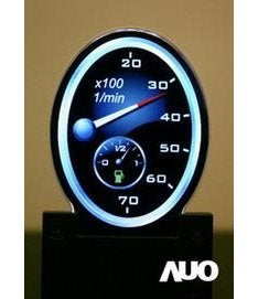 AUO Oval LCD Screens For Vehicle Instrument Panels