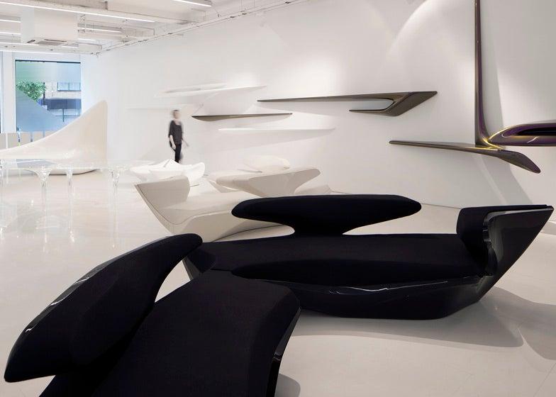 Zaha Hadid's First Storefront Puts a Living Legend Up Close