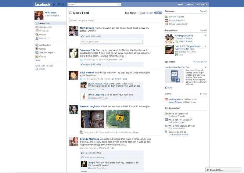 How Will Facebook Look After The Zombie Apocalypse?