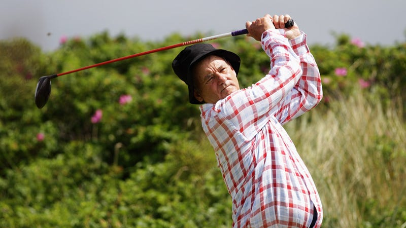 Bill Murray Gets His Swing On
