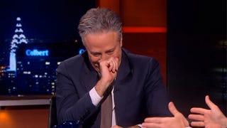 Jon Stewart Finally Made His Debut as a <em>Colbert Report</em> Guest