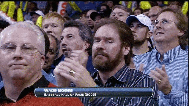Here Is A Gif Of Wade Boggs Attempting To Dance At Last Night's Oklahoma City Thunder Game
