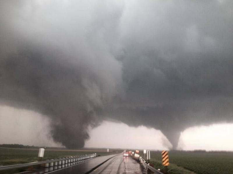Check Out These Incredible Twin Tornadoes in Nebraska