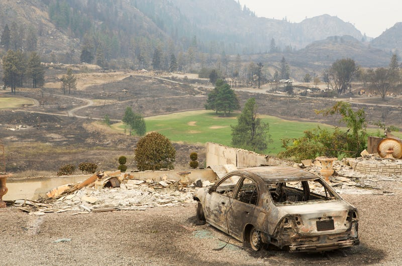 Aftermath Of Washington Wildfires Has Made An Eerie Car Graveyard