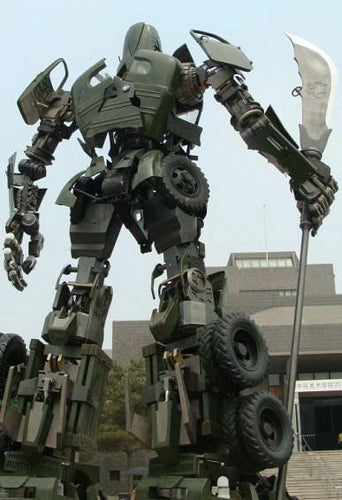 Totally amazing: a statue of legendary Chinese general Guan Yu as a Transformer