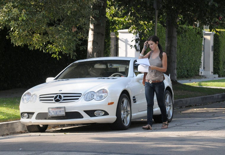 Audrina Patridge Drives A Mercedes SL