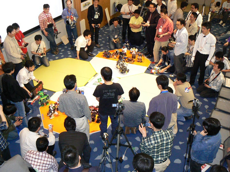 Robot Fights in Osaka, Where Referees Talk to Things Without Ears
