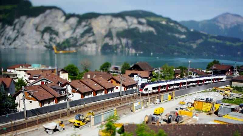 A Tilt-Shift Romp Through the Train-Dotted Swiss Countryside