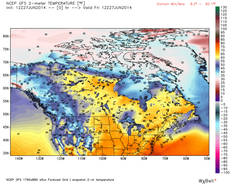 The Northern U.S. Will See SummerPolarVortexmageddon Next Week, Maybe