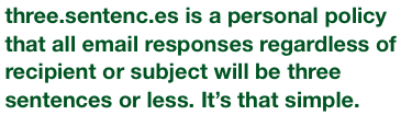 Three.Sentenc.es Is a Manifesto for More Succinct Email