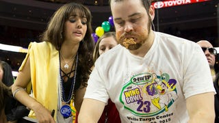 Disgraceful Mick Foley Shows No Respect By Cheating in Philly Wing Bowl