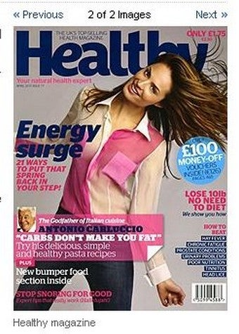 "Healthy Magazine Makes ""Unwell"" Model Bigger"