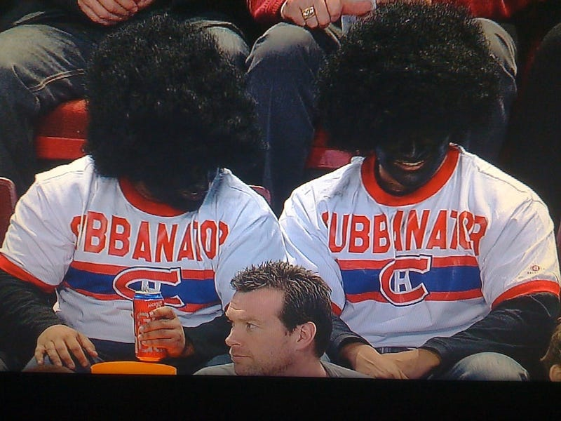 Yup, That's Some Blackface At A Hockey Game