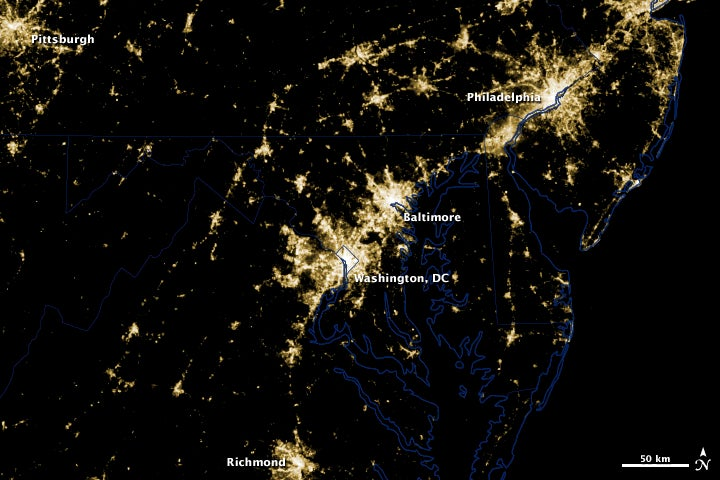 This is what Washington's massive power outages look like from space