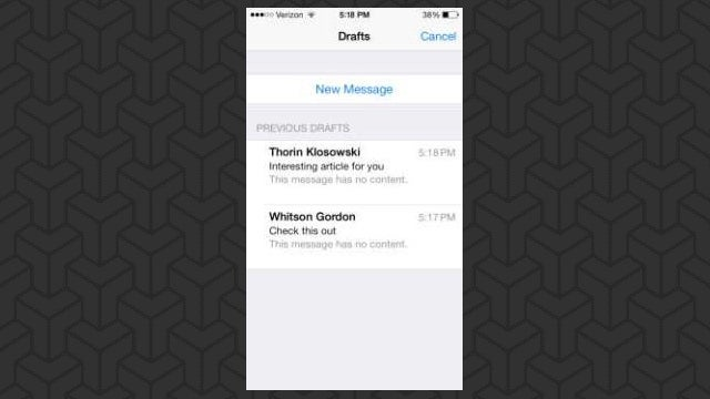 iOS 7 Draft Mail, Gunky Mice, and Web Page Notes