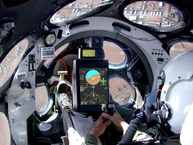 Photo of SpaceShipOne's Slick Cockpit