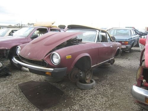 1979 Fiat 124 Sport Spider Down On The Junkyard