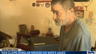 Vietnam Vet Says Burglars Smoked His Dead Wife's Ashes