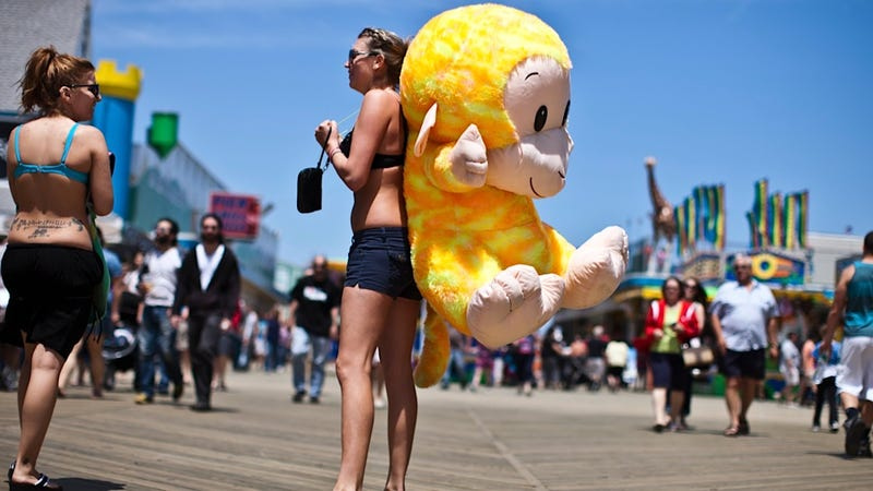 Something About This Giant Stuffed Monkey Screams, 'Fun in the Sun'