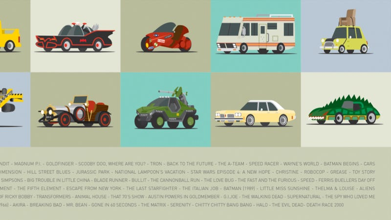 These Illustrated Movie Cars Are Absolutely Perfect