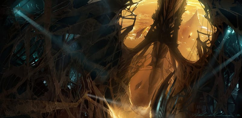 Thor concept art shows how cool the Dark Elves' realm could have looked