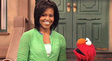 Michelle Obama Takes It To The Street